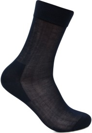 Bonjour Men's Self Design Crew Length Socks