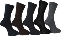 A&G Men's Striped Crew Length Socks - Pack Of 5