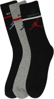 Renzer Men's Graphic Print Knee Length Socks - Pack Of 3 - SOCE2FCTXKNYNRJJ