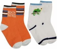 Ollington St. Collection Baby Boy's Striped Quarter Length Socks - Pack Of 2