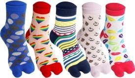 Supersox Thumb Women's Self Design Ankle Length Socks