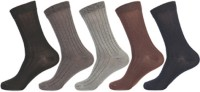 KHI Men's Striped Crew Length Socks - Pack Of 5