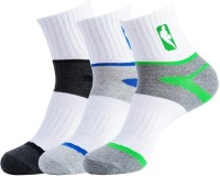 NBA Men's Striped Ankle Length Socks - Pack Of 3 - SOCDYTMC8YFFVTY5