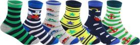 Supersox Baby Boy's, Baby Girl's Striped, Self Design Crew Length Socks