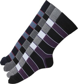 Stellen Men's Woven Crew Length Socks