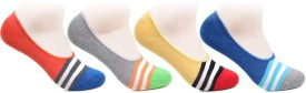 Bonjour Women's Striped No Show Socks