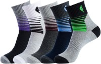 NBA Men's Striped Crew Length Socks - Pack Of 5