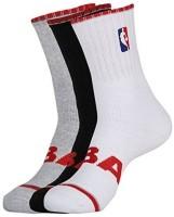 NBA Men's Striped Ankle Length Socks - Pack Of 5