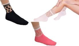 Sabhya Sakshi Women's, Girl's Solid Ankle Length Socks