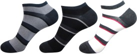 Balenzia Men's Striped Low Cut Socks Pack Of 3