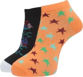A&G Premium Women's Self Design Ankle Length Socks (Pack Of 2)