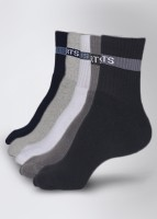Calzini Men's Striped Ankle Length Socks Pack of 5