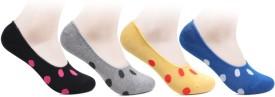 Bonjour Women's Polka Print No Show Socks