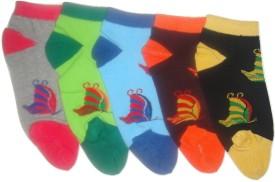 Well Wear Women's Floral Print Ankle Length Socks
