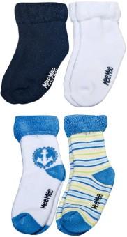 Mee Mee Baby Boy's, Baby Girl's Printed Ankle Length Socks