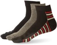 Stellen Men's Striped Ankle Length Socks - Pack Of 3 - SOCE2NM55Z8HVYGW