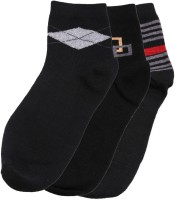 Tossido Men's Printed Ankle Length Socks - Pack Of 3 - SOCEYY3CJ6SCTYPP