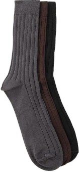 Alvaro Men's Striped Crew Length Socks (Pack Of 3) - SOCE3SKRRS96JZBS