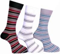 A&G Men's Striped Crew Length Socks - Pack Of 3