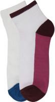 Renzer Women's Self Design Ankle Length Socks - Pack Of 2