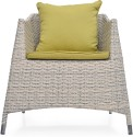 @home Metal 1 Seater Sofa (Finish Color - White, Upholstery Color - Olive)