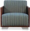 Durian Helena Chenille 1 Seater Sofa (Finish Color - Indigo, Upholstery Color - Indigo)