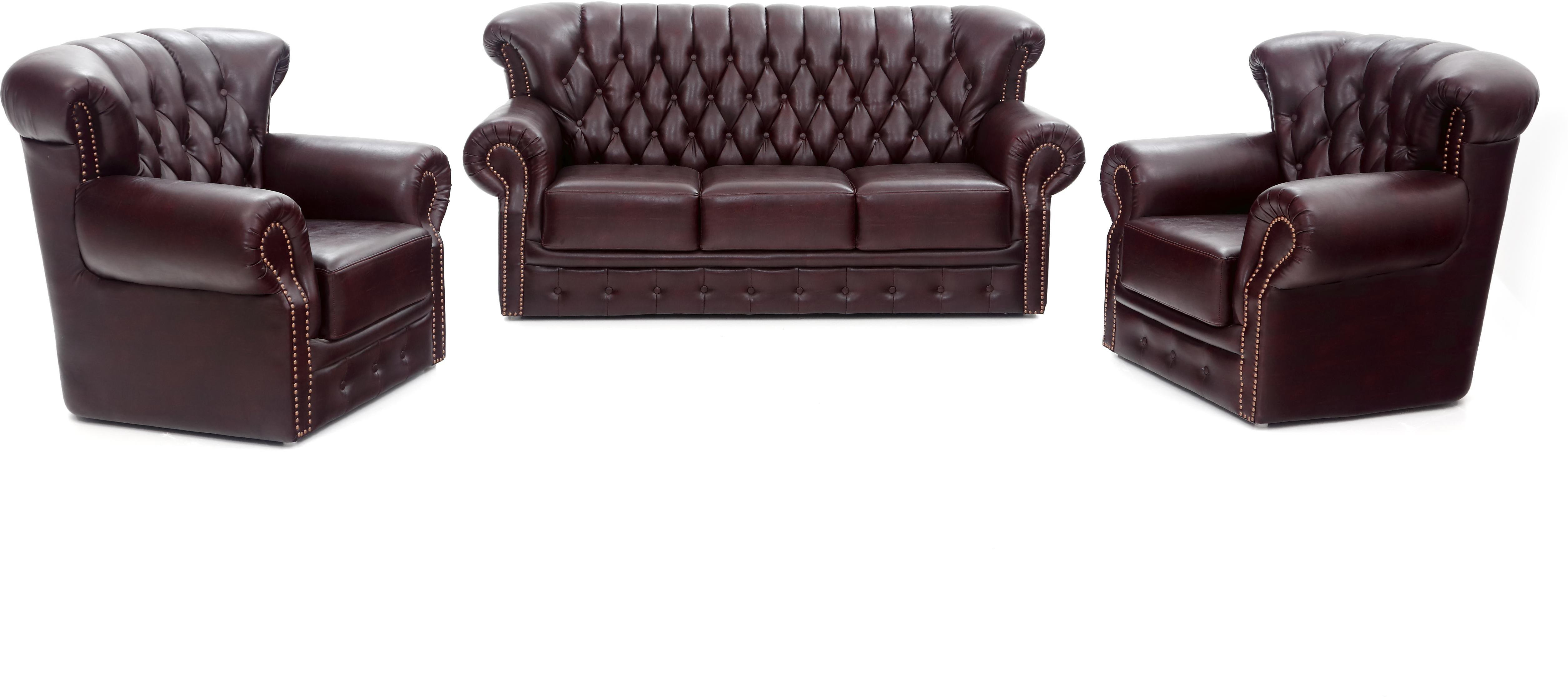 Furnicity leatherette 3 1 1 sofa set price in india for Home sofa set price