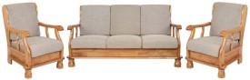 IDEAWOODS Classy Solid Wood 3 + 1 Sofa Set