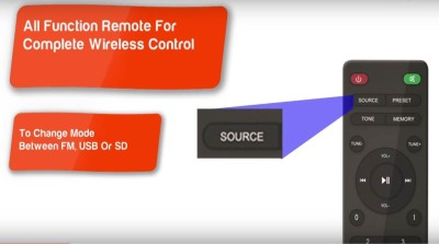 Envent DeeJay Blaze Illuminating Wired Home Audio Speaker