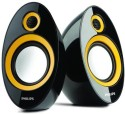 Philips SPA 60 Laptop/Desktop Speaker (Black+Yellow, 2 Channel)
