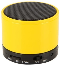 KONARRK SoundTube Portable Bluetooth Mobile/Tablet Speaker (Yellow, 3 Channel)