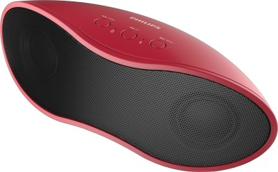 Philips IN-BT4200/94 Portable Bluetooth Mobile/Tablet Speaker (Black, Red)