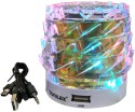 Ocean I Sonilex SL-479DLFM Wireless Portable Speaker Supports TF Card/USB/AUX Function With Dynamic LED Lights Mobile/Tablet Speaker (Golden, 1.0 Channel)