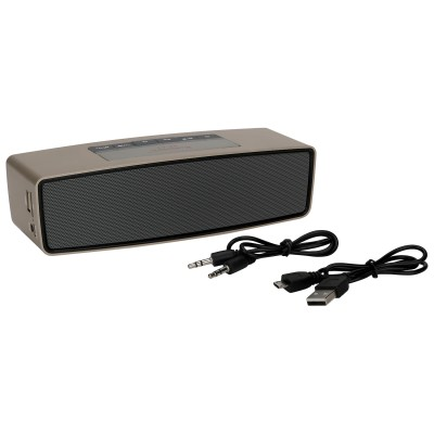 Robotek RB-02 Portable Bluetooth Mobile/Tablet Speaker (Gold, 2.1 Channel)