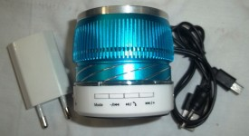 Mosaic LED LIGHT BLUETOOTH SPEAKER WITH AC ADOPTER Mobile/Tablet Speaker