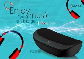 Zazz ZAZZ Power Bank Bluetooth Speaker ZBS136 Wireless Mobile/Tablet Speaker