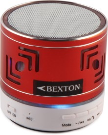 Bexton TruBass Bluetooth Metal Lightning Wireless Mobile/Tablet Speaker (Red, 1.0 Channel)
