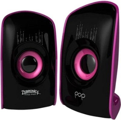 Zebronics Pop 2.0 Multimedia Speaker Black & Purple, 2 Channel