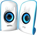 Zebronics Pop 2.0 Multimedia Speaker - White & Blue