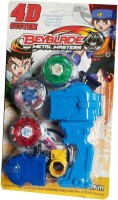 Shop & Shoppee 3 Beyblade Set With Handle Launcher Metal Fighters (Multicolor)