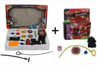 ShopStar BeyBlade Complete Game With Launcher Combo With BeyBlade Aquarious- Super Power Gyro. (Multicolor)