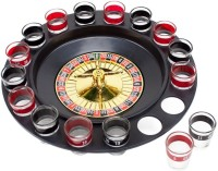 Goodbuy Spin N Shot With 16 Shot Glasses (Multicolor)