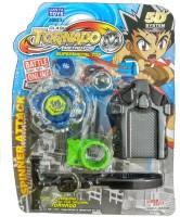 Just Toyz Abs Plastic Clash Tarnado Metal Top Super Metal Top Bayblade (Multicolor)