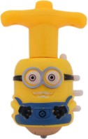 Tootpado Minion Flashing And Musical Spinning Top (Pack Of 2) - 1c168 - Gyro Toy With Plastic Launchers (Yellow)