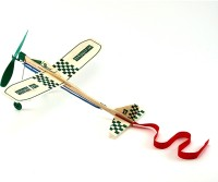 Guillow's High Flying Rubber Powered Airplane With Landing Gears (Multicolor)