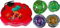 Smart Picks Super Spin Top 4 Lighting Bladers (Multicolor)