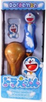 Turban Toys Pull, Spin And Flying Doremon Toy (Blue, Gold)