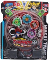 Madink Beyblade Tornado Pack Of 4 With Stadium (Multicolor)