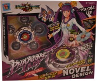 Mera Toy Shop Spinning Attack Rings-Purple Ice (Multicolor)
