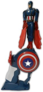 Shop Street Spinning & Press n Launch Toys Shop Street Amazing Flying Captain America